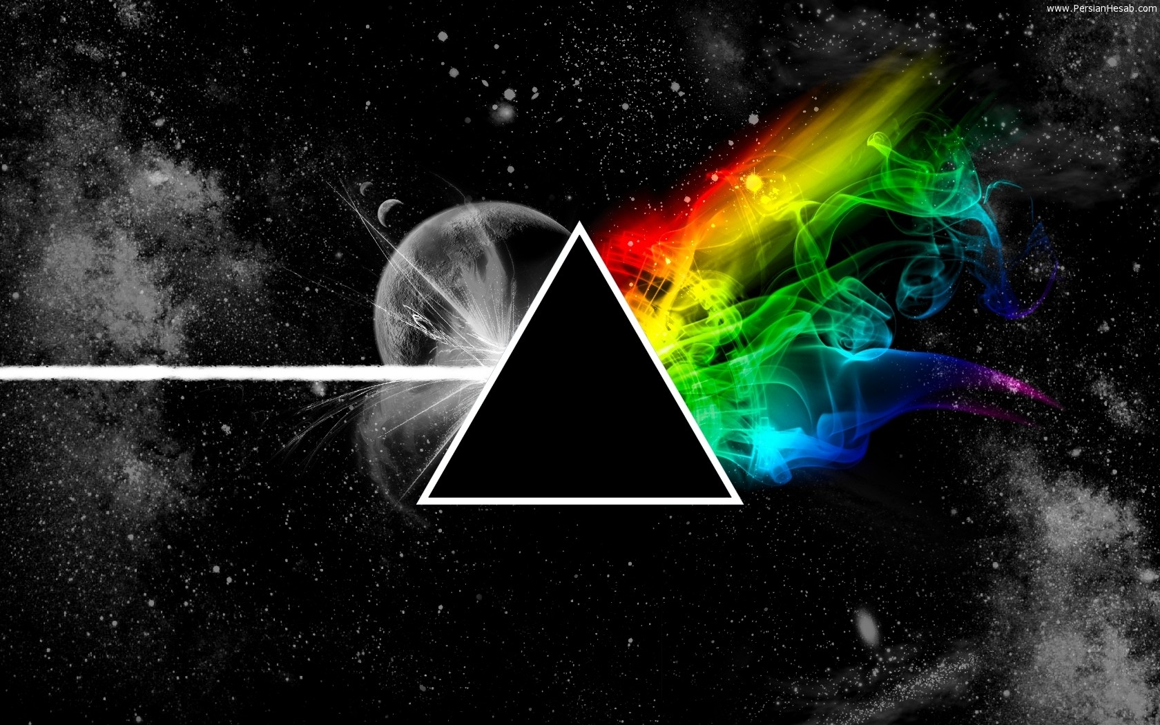 Pink Floyd Triangle Space Planet Colors 3723 1680x1050