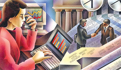 Investing in the Market --- Image by © Boris Lyubner/Illustration Works/Corbis