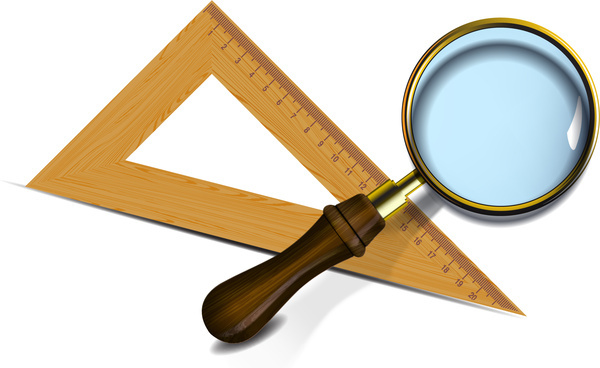 Ruler And Magnifier 6814448